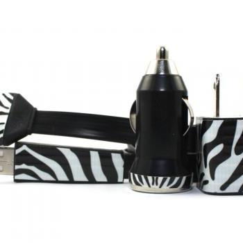 Zebra Print iPhone Charger